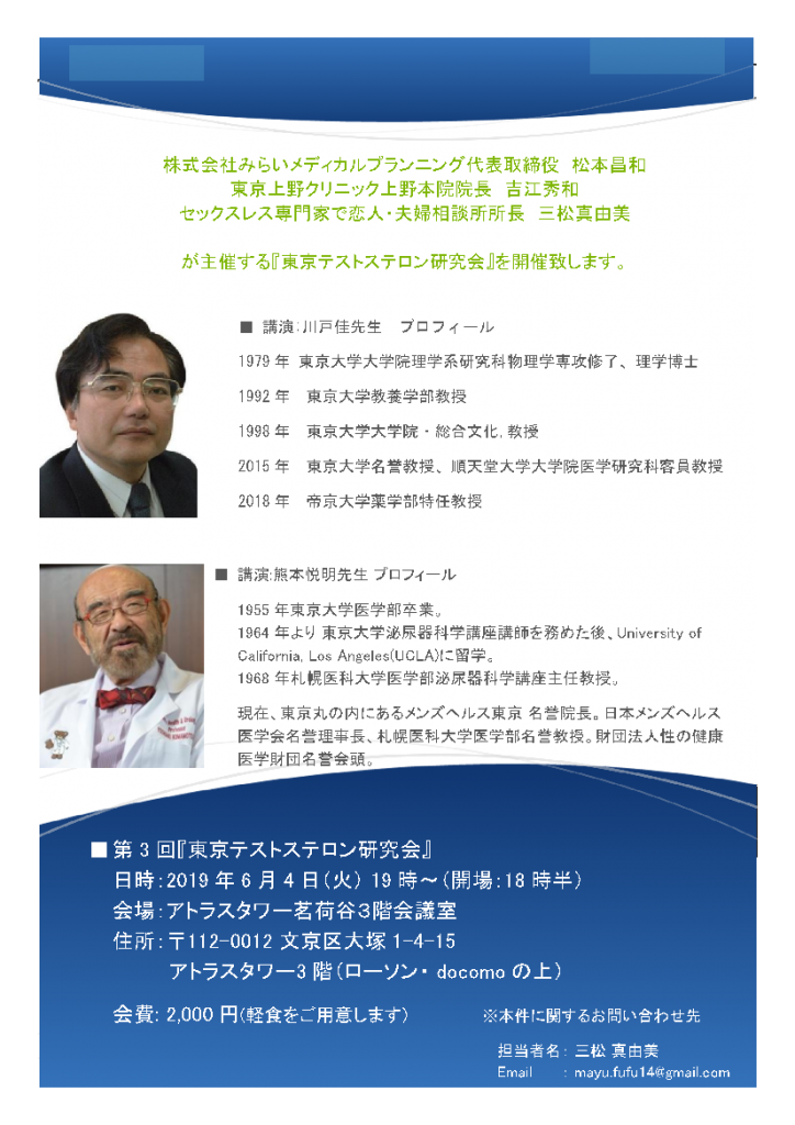 テストステロン勉強会開催20190604-2